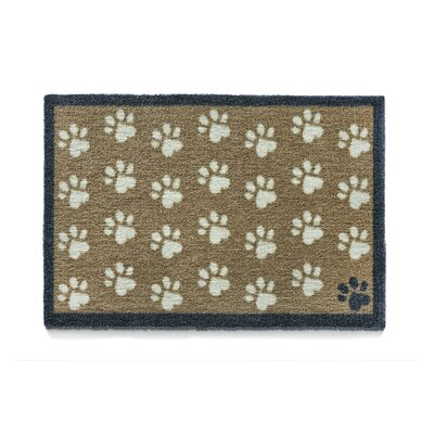 Howler & Scratch Paws Doormat Rug Size: 18 x 26, Color: Brown