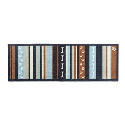 Howler & Scratch Dog Stripe Doormat Rug Size: Runner 18 x 411, Color: Brown