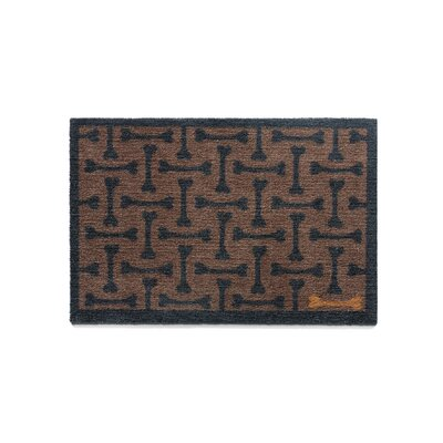 Howler & Scratch Bones Doormat Rug Size: Rectangle 18 x 33