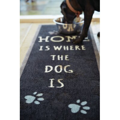 Howler & Scratch Home Doormat Mat Size: Runner 18 x 411, Color: Black
