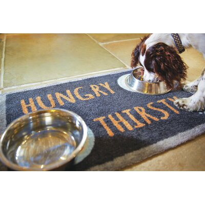 Howler & Scratch Hungry Doormat Color: Black
