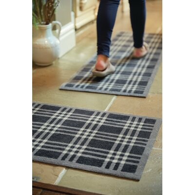 Muddle Mat Check Doormat Rug Size: Runner 18 x 411