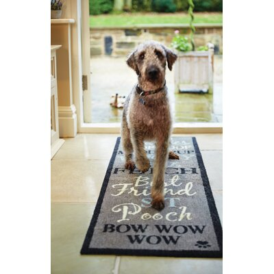 Howler & Scratch Bow Wow Doormat Color: Gray