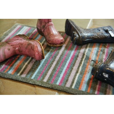 Muddle Mat Stripe Doormat Mat Size: Runner 18 x 411