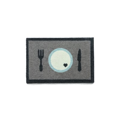 Howler & Scratch Dinner Doormat Color: Gray