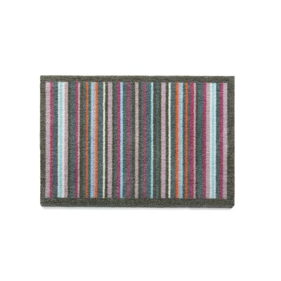 Muddle Mat Stripe Doormat Mat Size: Rectangle 18 x 26