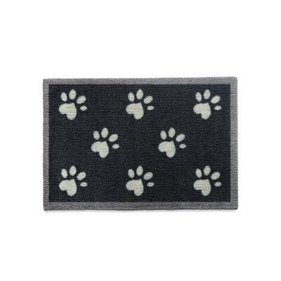 Howler & Scratch Paws Doormat Rug Size: Rectangle 18 x 33, Color: Black