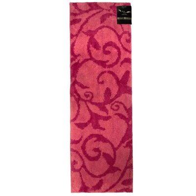Archangel Ivy Microfiber Bath Mat Size: 20 x 30, Color: Light Pink / Hot Pink