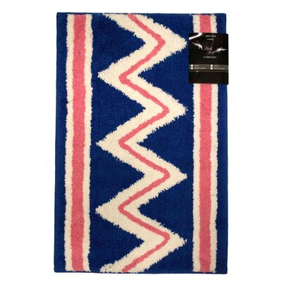 Archangel Azteca Microfiber Bath Mat Size: 20 x 30, Color: Blue