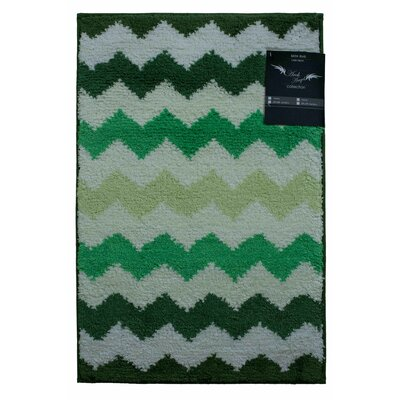 Archangel Chevron Microfiber Bath Mat Size: 20 x 30, Color: Green