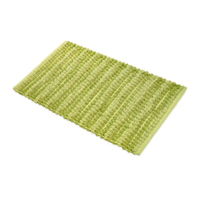 Chardin Pebble Ball Plush Bath Mat Color: Green