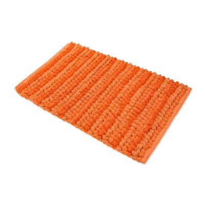 Chardin Pebble Ball Plush Bath Mat Color: Orange