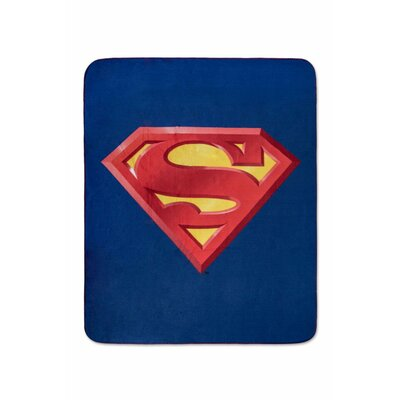 Superman Emblem Luxury Fleece Throw Blanket