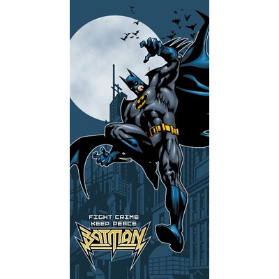 Batman Fight Crime Beach Towel