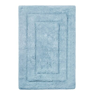 Abraham Ultra Soft Rectangular Embossed Solid Bath Mat Size: 21 x 32, Color: Powder Blue