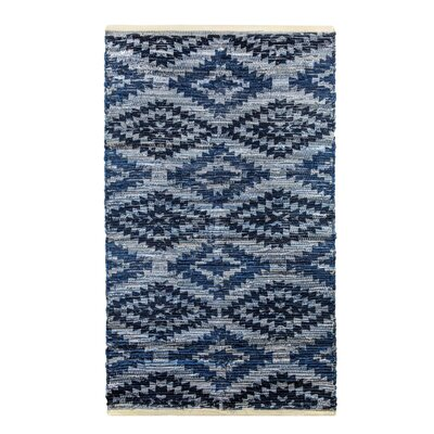 Archangel Handcrafted Blue Denim Area Rug Rug Size: 19 x 210