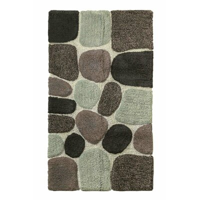 Archangel Ultra Soft Embossed Pebble Stone Bath Mat Color: Grey, Size: 21 x 32
