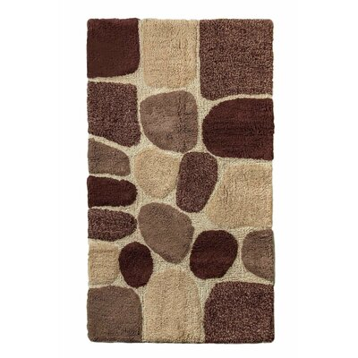 Archangel Ultra Soft Embossed Pebble Stone Bath Mat Size: 24 x 40, Color: Brown