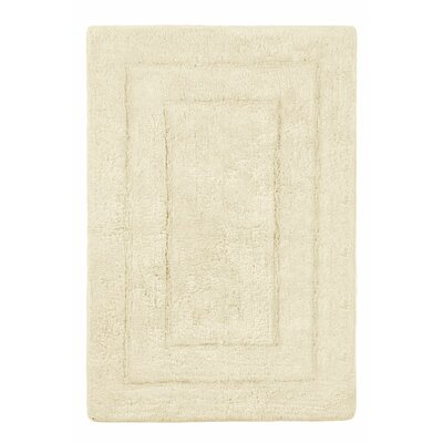 Abraham Ultra Soft Rectangular Embossed Solid Bath Mat Size: 24 x 60, Color: Cream