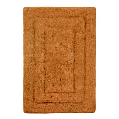 Abraham Ultra Soft Rectangular Embossed Solid Bath Mat Color: Tan, Size: 24 x 40
