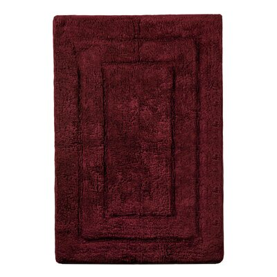 Abraham Ultra Soft Rectangular Embossed Solid Bath Mat Size: 21 x 32, Color: Burgandy