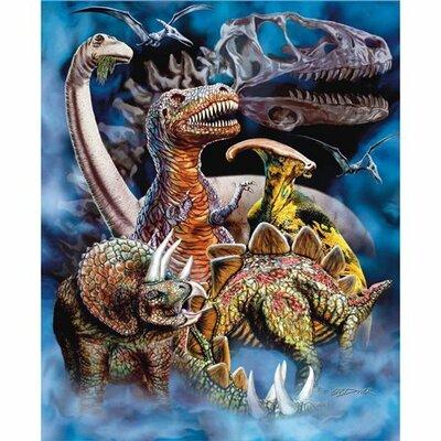 Dinosaur Mink Blanket