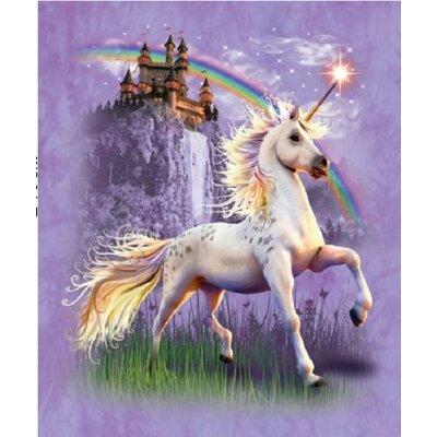 Signature Unicorn Castle Mink Blanket