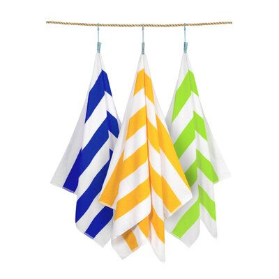 Cabana Stripe 3 Piece Beach Towel Set Color: Assorted