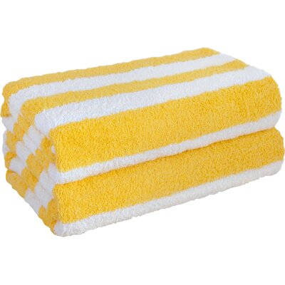 Cabana Stripe Beach Towel Color: Yellow