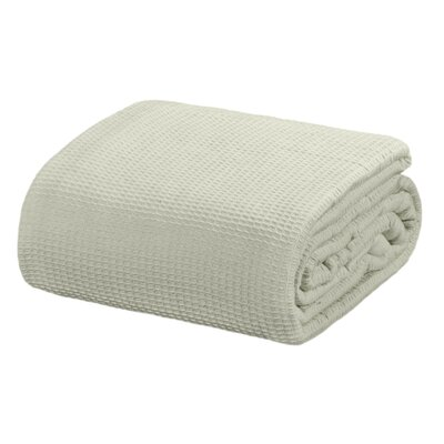 Ricardo Thermal Waffle Cotton Throw Blanket Color: Gray, Size: Twin