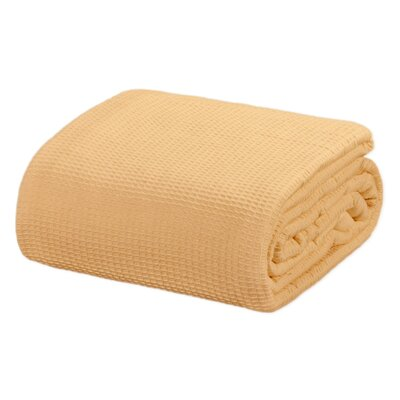 Ricardo Thermal Waffle Cotton Throw Blanket Color: Tan, Size: Queen