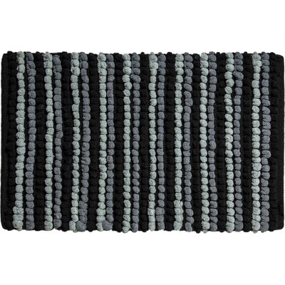 Chardin Pebble Ball Plush Bath Mat Color: Black