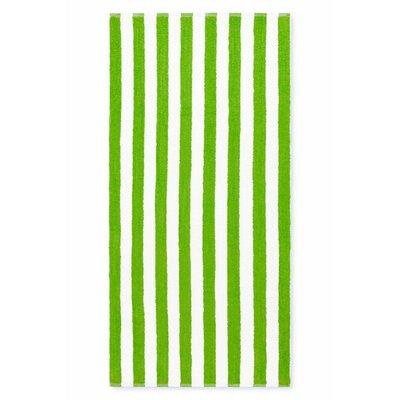 Cabana Stripe Beach Towel Color: Lime Green