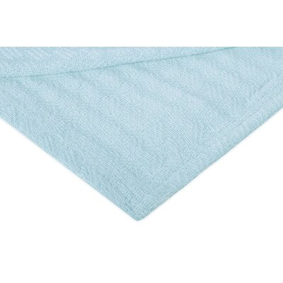 All Season Thermal Weave Design Cotton Blanket Color: Powder Blue, Size: Queen
