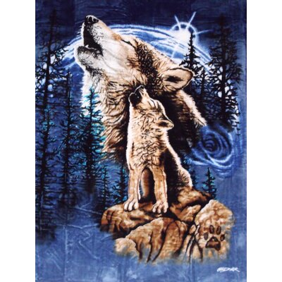 Harmony of Wolves Mink Blanket