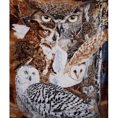11 Owls Mink Blanket