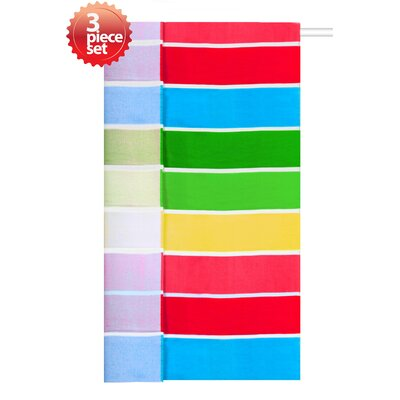 Rainbow Cabana Beach Towel Set