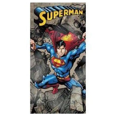 Superman Rocks Beach Towel