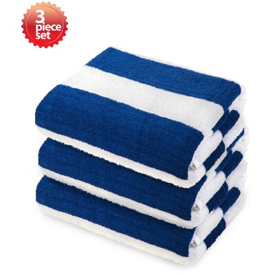 Ravenworth 100% Cotton Beach Towel Color: Blue