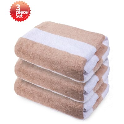 100% Cotton Beach Towel Color: Beige