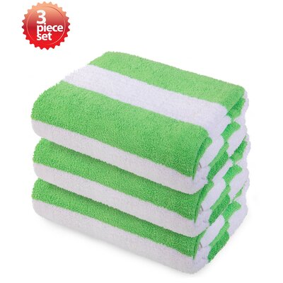 Ravenworth 100% Cotton Beach Towel Color: Green