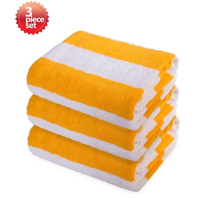 Ravenworth 100% Cotton Beach Towel Color: Yellow