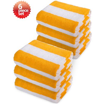 Striped Beach Towel Color: Yellow