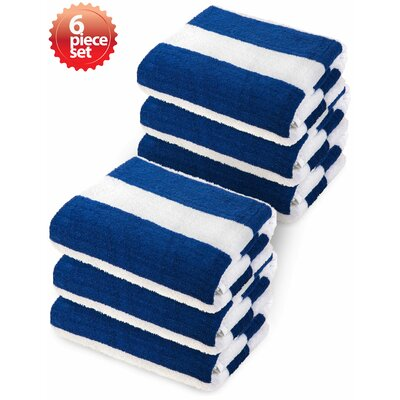 Striped Beach Towel Color: Blue