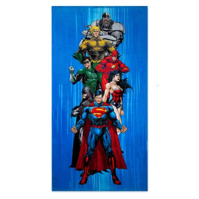 Justice League Heroes Beach Towel