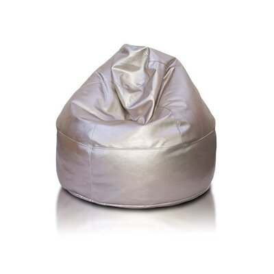 Bean Bag Chair Upholstery: Silver