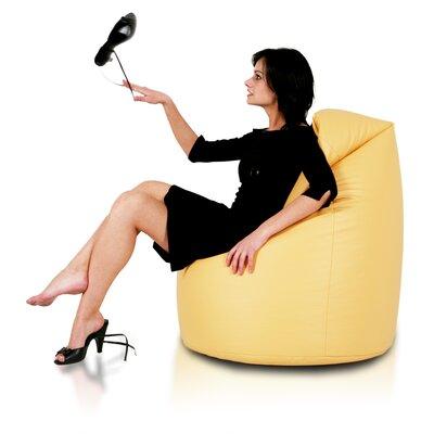Furini Bean Bag Chair Upholstery: Gold