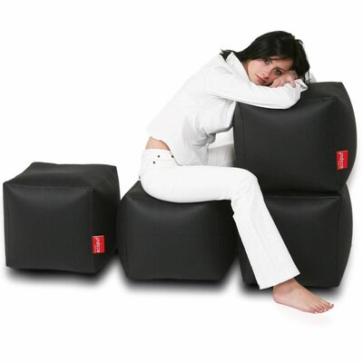 Bean Bag Set (Set of 2) Upholstery: Black