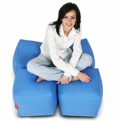 Bean Bag Set (Set of 2) Upholstery: Sky