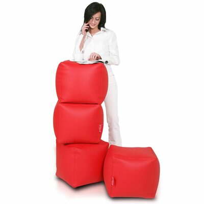 Bean Bag Set (Set of 2) Upholstery: Red